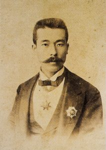Photograph of Yamada Torajiro with a Mecidiye Order Medal, dated 1899