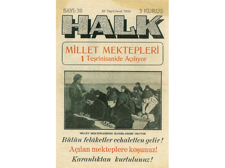 Halk Newspaper, 1929. Tarun Tanyer Archives.