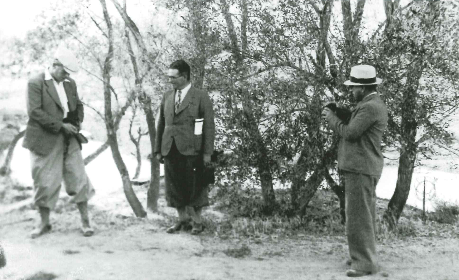 Tonguç on an excursion during the early years of the Village Institutes. İ. H. Tonguç Archives.
