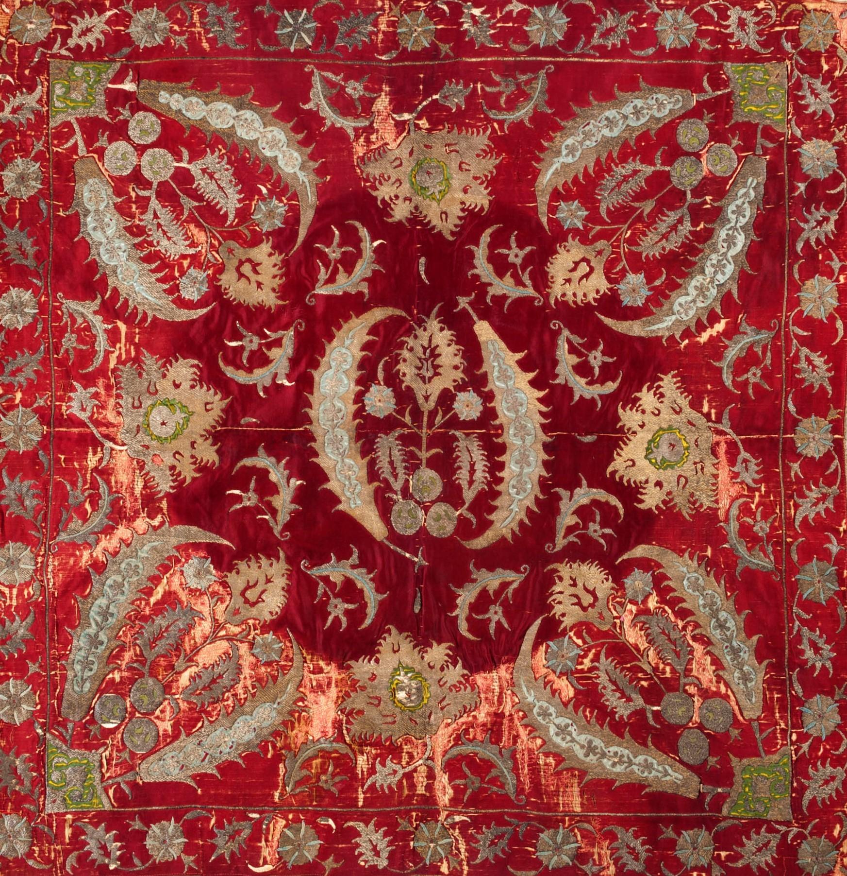 Embroidered bohça wrap