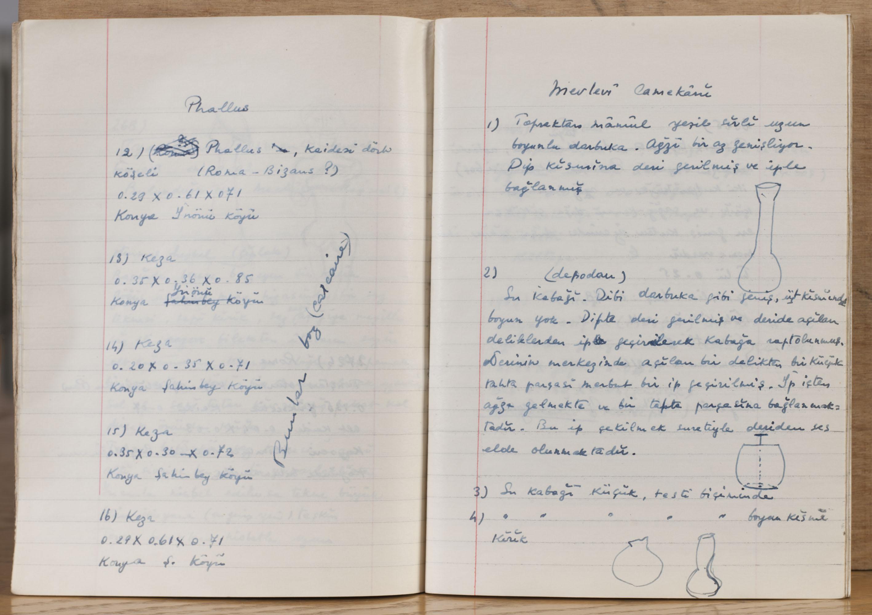 Adnan Saygun´s notebook.