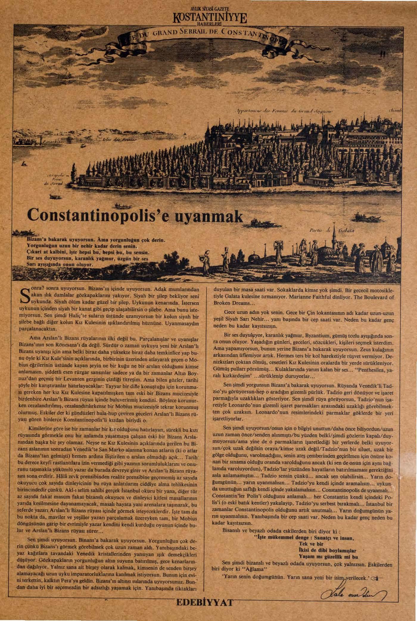 Constantinopol is'e Uyanmak