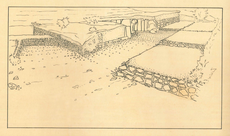 drawing of the Karatepe-Aslantaş excavation site