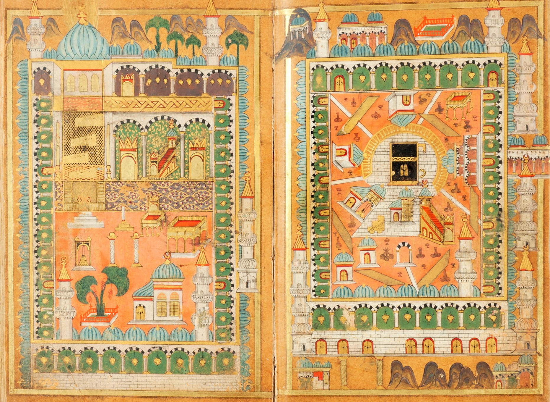 Depictions of Mecca and Medina