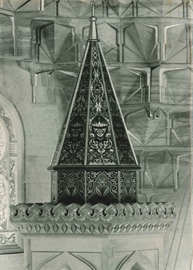 Hand-drawn ornaments of the minber cone.