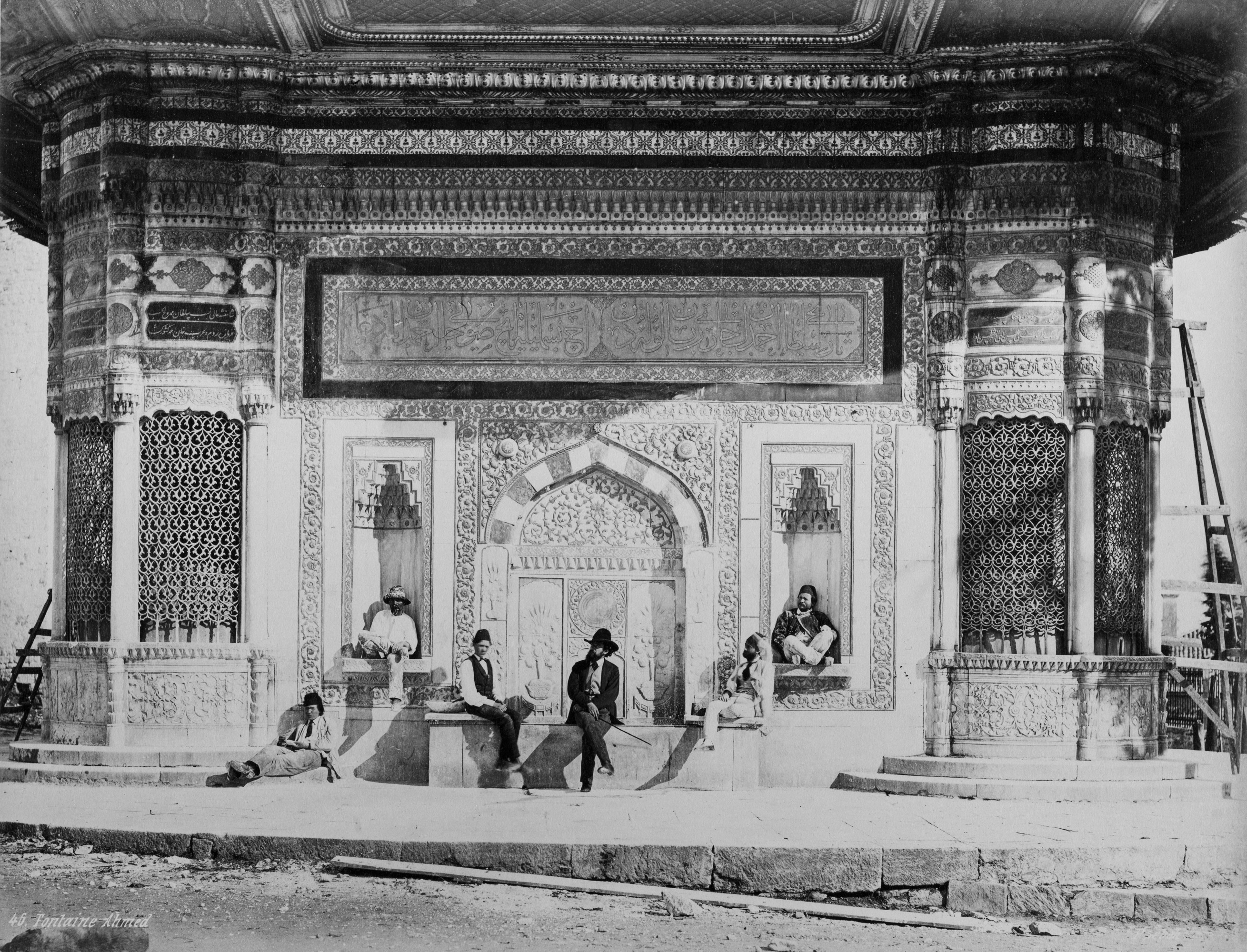 Pascal Sebah at the Fountain of Ahmed III