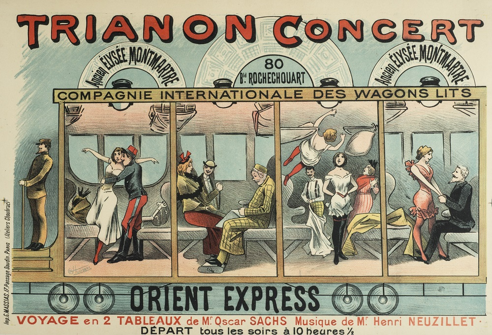 Advertisement for the Orient Express show that was held at the Trianon Concert.