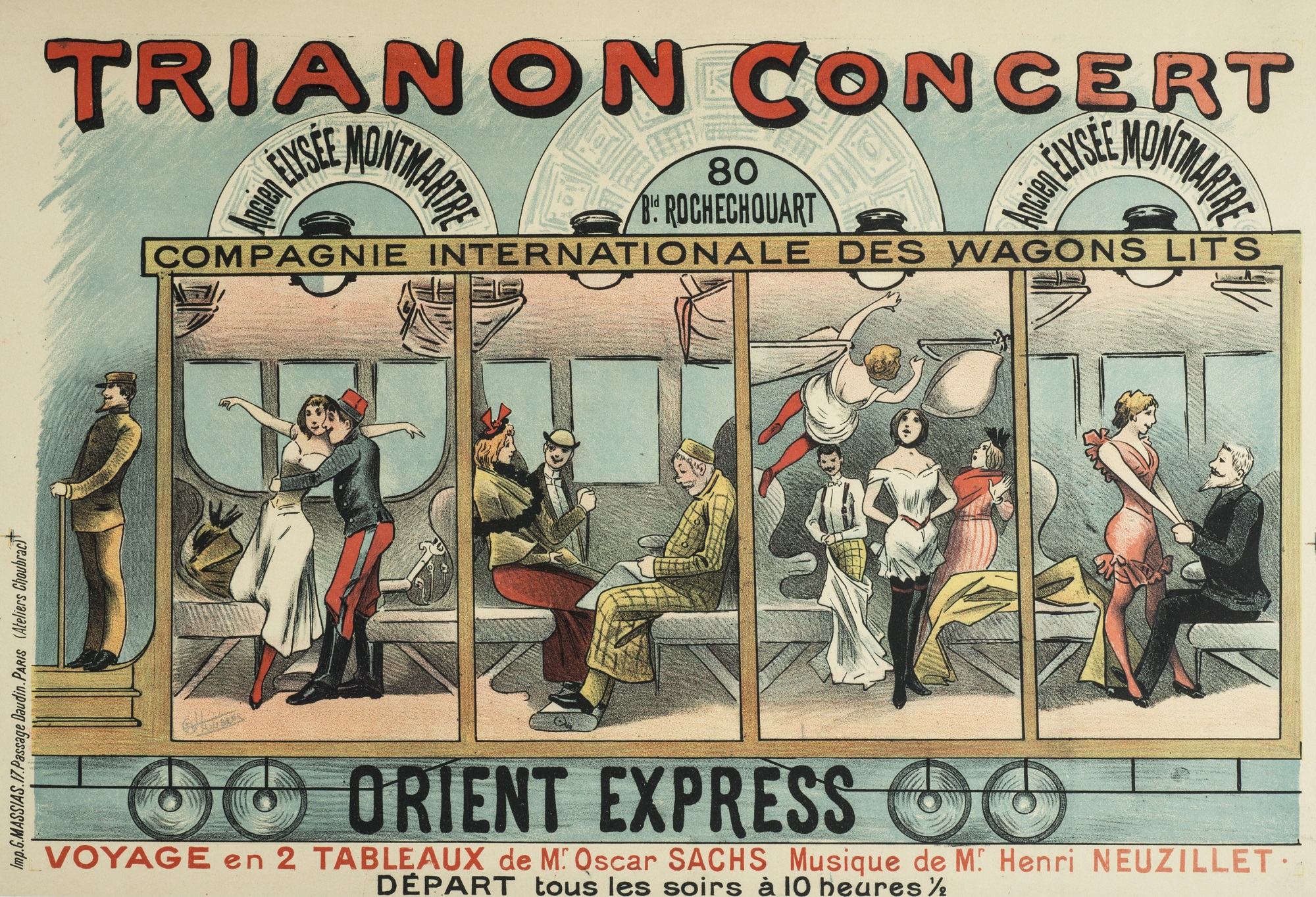 Advertisement for the Orient Express show