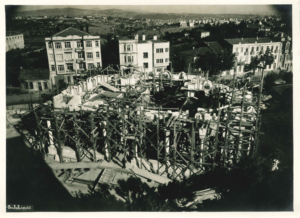 Northern view of construction
